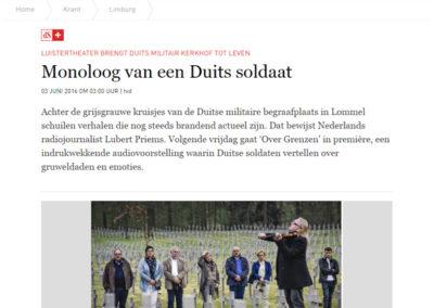 20160602 dagblad De Standaard